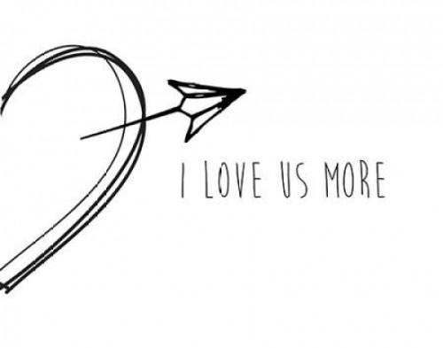 I Love Us More Poster Print by CAD Designs - Item # VARPDX17346