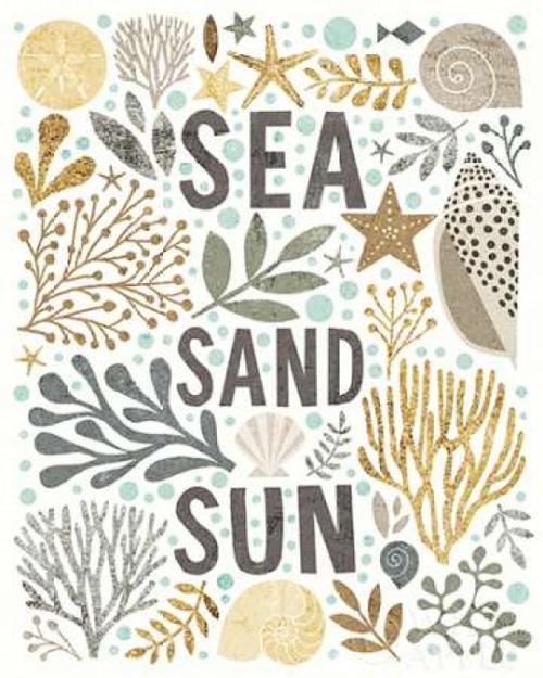 Under Sea Treasures III Gold Neutral Poster Print by Michael Mullan - Item # VARPDX23236
