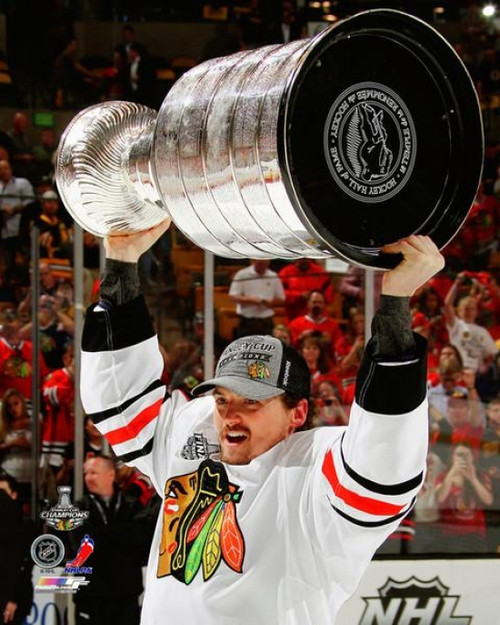 Sheldon Brookbank with the Stanley Cup Game 6 of the 2013 Stanley Cup Finals Photo Print - Item # VARPFSAAQL147