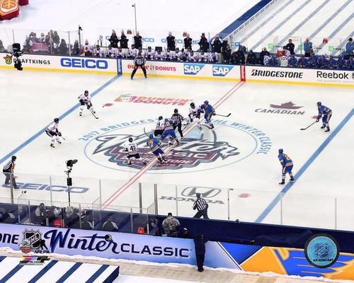 2017 NHL Winter Classic Opening Face-Off Photo Print - Item # VARPFSAATR174