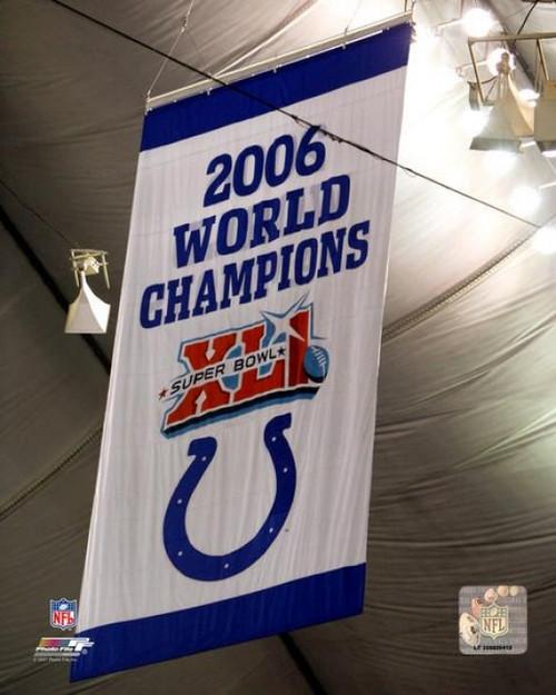 Colts Super Bowl XLI Championship Banner Photo Print - Item # VARPFSAAIQ232