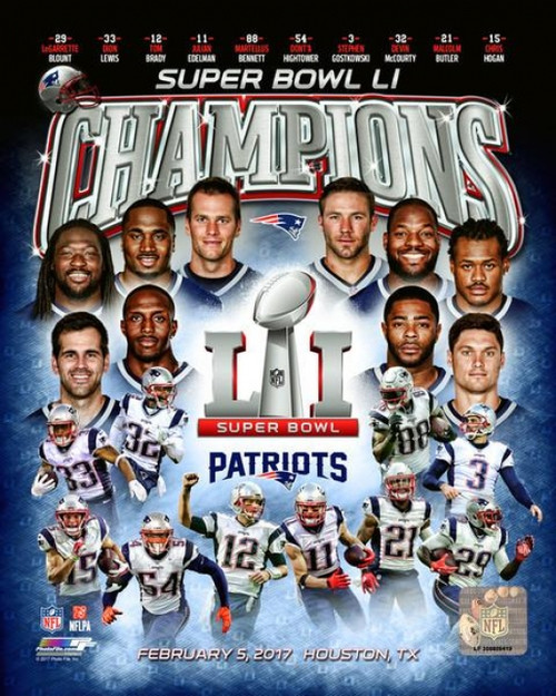 New England Patriots Super Bowl LI Champions Composite Photo Print - Item # VARPFSAATT076