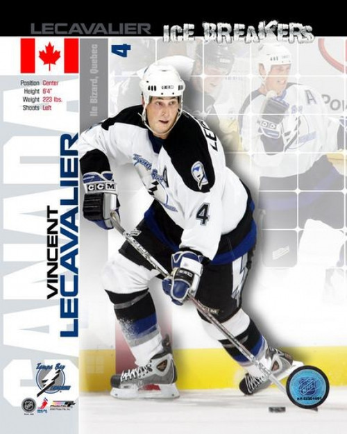 05 / '06 - Vincent Lecavalier - Ice Breakers Composite Photo Print - Item # VARPFSAAGV025