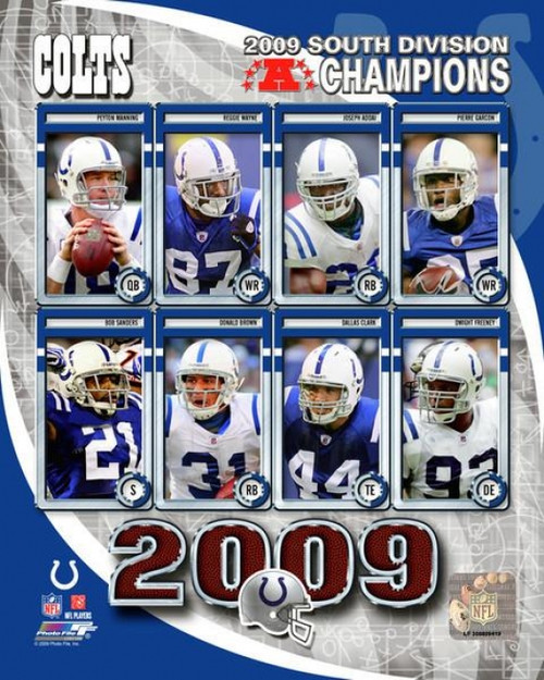2009 Indianapolis Colts AFC South ChampionsTeam Composite Photo Print - Item # VARPFSAALY011
