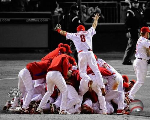 2008 Philadelphia Phillies World Series Champions Team Celebration Spotlight Horizontal # 2 Photo Print - Item # VARPFSAAOI068
