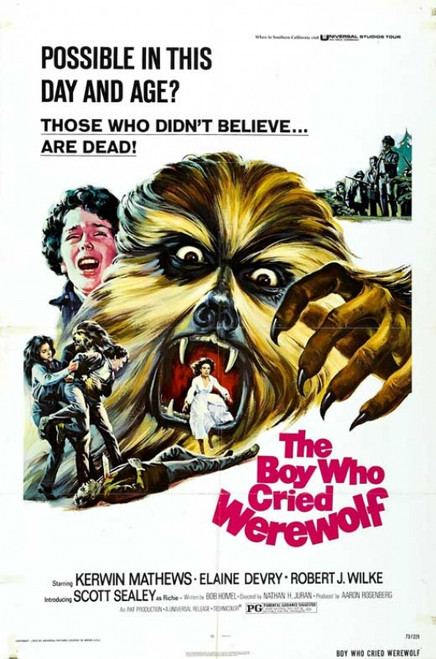 The Boy Who Cried Werewolf Movie Poster Print (27 x 40) - Item # MOVGB30711