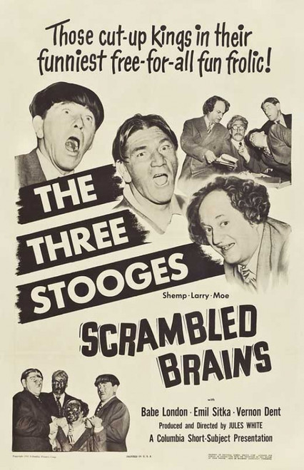 Scrambled Brains Movie Poster Print (27 x 40) - Item # MOVAB16704