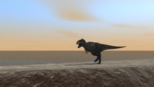 Tyrannosaurus Rex hunting along the shoreline Poster Print - Item # VARPSTKVA600552P