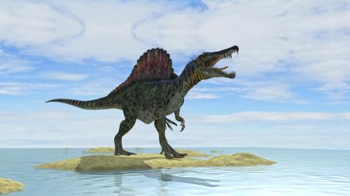 Spinosaurus hunting in prehistoric waters Poster Print - Item # VARPSTKVA600561P
