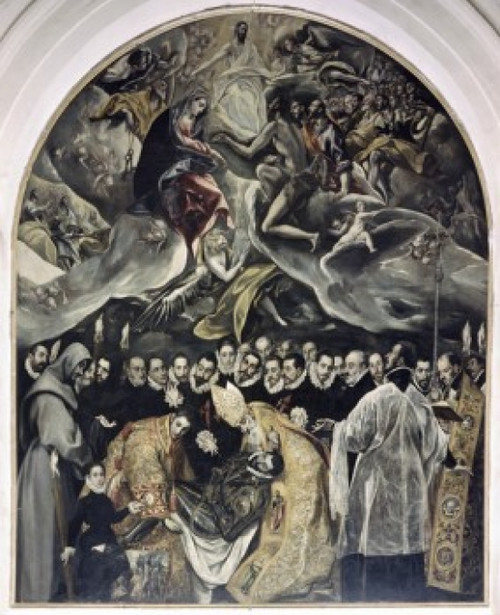 The Burial of Count Orgaz  1586  El Greco   Iglesia Santo Tome  Toledo  Spain Poster Print - Item # VARSAL2622142