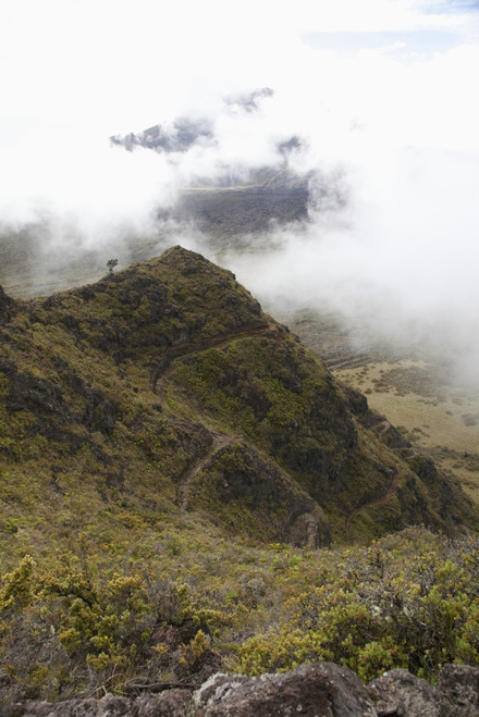 Hawaii, Maui, Haleakala Switchbacks through clouds PosterPrint - Item # VARDPI2116513
