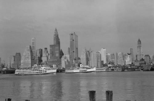 Skyscrapers on the waterfront  Manhattan  New York City  New York  USA Poster Print - Item # VARSAL25518794