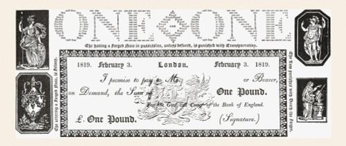 An 1819 English One Pound Note. From The Strand Magazine Published 1894. PosterPrint - Item # VARDPI2220554