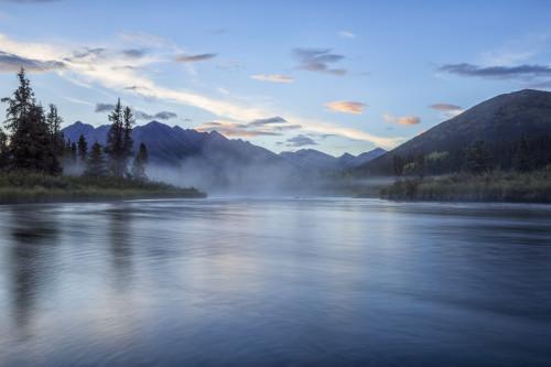 The Lapie River flows through the wilderness along the South Canol Road; Yukon, Canada PosterPrint - Item # VARDPI12287355