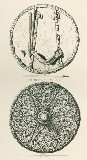 A Highland Target Or Targe, With Spikes. From The British Army: It's Origins, Progress And Equipment, Published 1868. PosterPrint - Item # VARDPI2334592