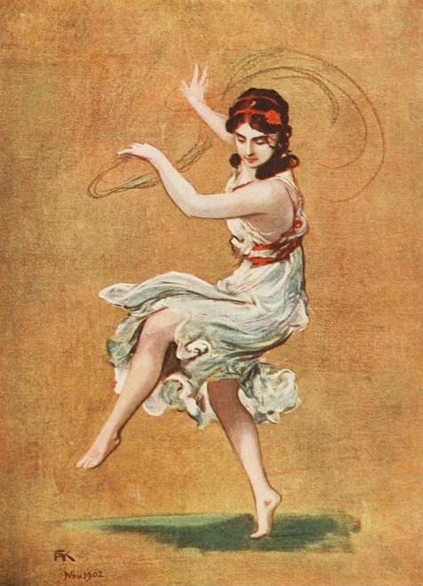 Modern Dancing & Dancers 1912 Isadora Duncan Poster Print by  F.A. von Kaulbach - Item # VARPPHPDP84292