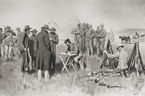 Boer Farmers Taking The Oath Of Neutrality At Greylingstad, South Africa During The Second Boer War. From South Africa And The Transvaal War, By Louis Creswicke, Published 1900. PosterPrint - Item # VARDPI1872847
