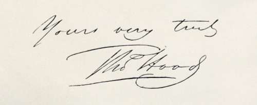 Signature Of Thomas Hood, 1799 To 1845. British Humorist And Poet. Fom The Book The Complete Poetical Works Of Thomas Hood Published 1906. PosterPrint - Item # VARDPI1872107