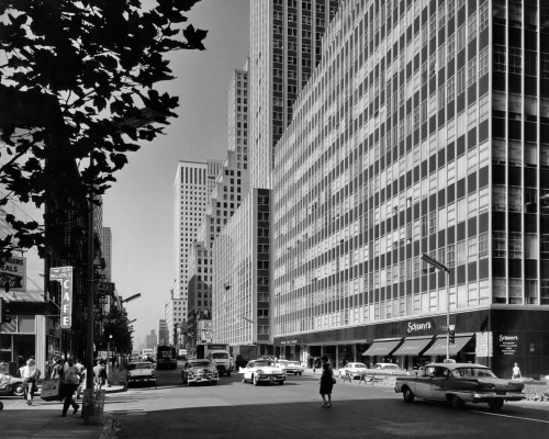 1950s-1960s Looking South On Third Avenue At 47Th Street Manhattan New York City Ny Usa Print By Vintage Collection - Item # PPI179028LARGE