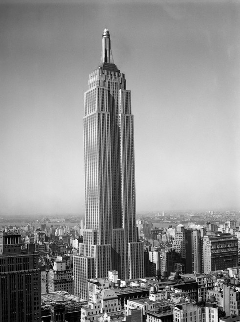 1930s New York City Empire State Building Full Length Without Antennae Poster Print By Vintage Collection - Item # VARPPI195682