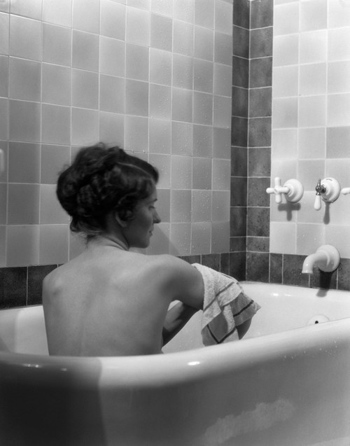 1920s-1930s Young Brunette Woman Sitting In Luxury Bathtub Taking A Bath Poster Print By Vintage Collection (22 X 28) - Item # PPI177264LARGE