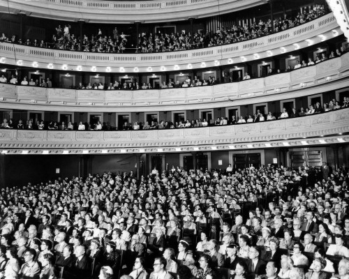 1950s Audience Sitting In Carnegie Hall New York City Ny Usa Poster Print By Vintage Collection - Item # VARPPI186256