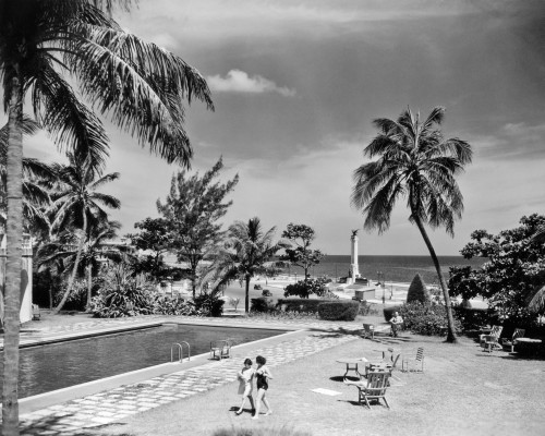 1930s-1940s Swimming Pool National Hotel With View Towards Maine Monument Havana Cuba Print By Vintage Collection - Item # PPI178753LARGE
