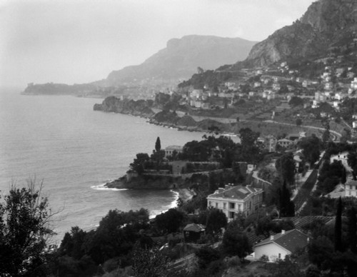 1920s Aerial Nice French Riviera Coastline Cote D'Zur Mediterranean Sea Poster Print By Vintage Collection - Item # VARPPI178927