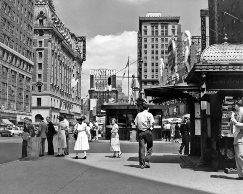 1950s New York City Times Square West 43Rd Street Looking North Poster Print By Vintage Collection - Item # VARPPI195892