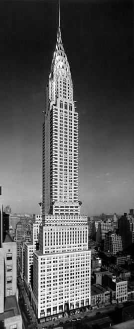 1930s-1940s Tall Narrow Vertical View Of Art Deco Style Chrysler Building Lexington Ave 42Nd Street Manhattan New York - Item # VARPPI195675