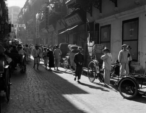 1920s-1930s Street Scene Rickshaws Waiting For Hire Hong Kong China Poster Print By Vintage Collection (22 X 28) - Item # PPI195637LARGE