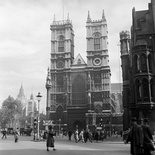 1930s Street Scene Westminster Abbey City Of Westminster Central London England Print By Vintage Collection - Item # PPI179069LARGE