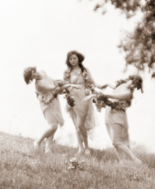 1900s-1920s Three Modern Dancers Outdoors Rite Of Spring In The Style Of Isadora Duncan Print By Vintage Collection - Item # PPI177381LARGE