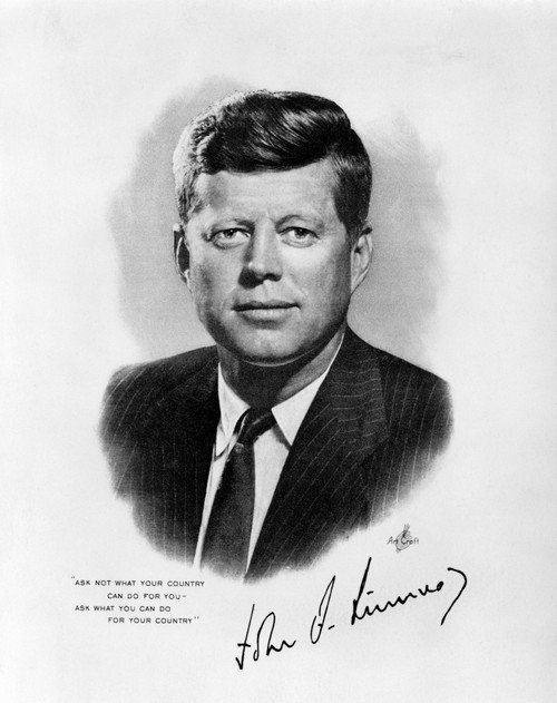 1960s Jfk Official White House Portrait John Fitzgerald Kennedy 35Th American President Print By Vintage Collection - Item # VARPPI178368