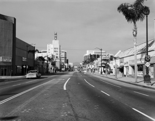 1960s Street Scene West Wilshire Blvd Los Angeles, California Usa Poster Print By Vintage Collection (22 X 28) - Item # PPI176736LARGE
