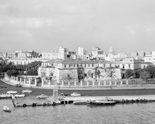 1950s Skyline View Of Castillo De La Real Fuerza In Foreground And Capitol Dome In Distance Havana Cuba Print By Vintage - Item # VARPPI179073