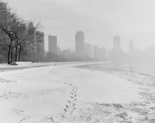 USA  Chicago  Illinois  Winter cityscape Poster Print - Item # VARSAL255423782