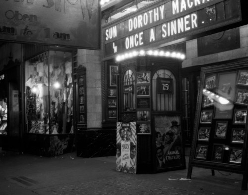 1930s New York City 8Th Avenue And 58Th Street The Columbus Neighborhood Movie House Marquee And Ticket Booth At Night - Item # PPI178500LARGE