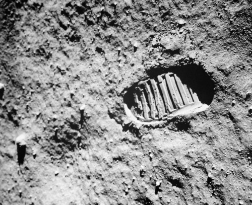 1960s Footprint Of First Step On Moon'S Surface From Apollo 11 Mission Poster Print By Vintage Collection - Item # VARPPI195563