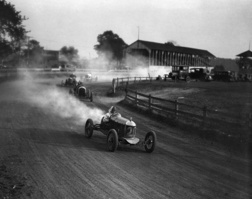 1930s Auto Race On Dirt Track With Cars Going Around Turn Kicking Up Dust Poster Print By Vintage Collection (22 X 28) - Item # PPI194146LARGE