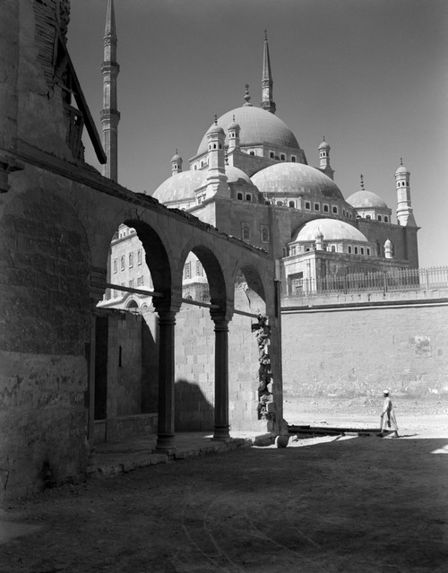 1920s-1930s Cairo Egypt Architectural View Of The Muhammad Ali Alabaster Mosque In The Citadel Built In 1840s Print By - Item # PPI195695LARGE