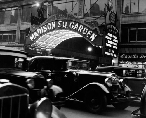 1920s-1930s Cars Taxis Madison Square Garden Marquee At Night Manhattan New York City Usa Print By Vintage Collection - Item # PPI178484LARGE