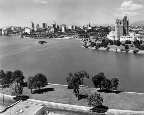 1950s With Lake Merritt In Foreground Skyline View Of Oakland California Usa Print By Vintage Collection - Item # VARPPI176860