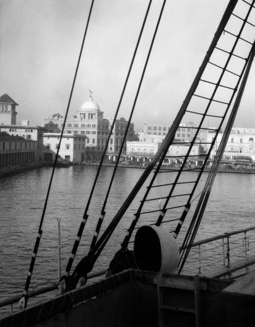 1920s View From The Ship Ss Lafayette The Customs House Havana Cuba Poster Print By Vintage Collection - Item # VARPPI178634