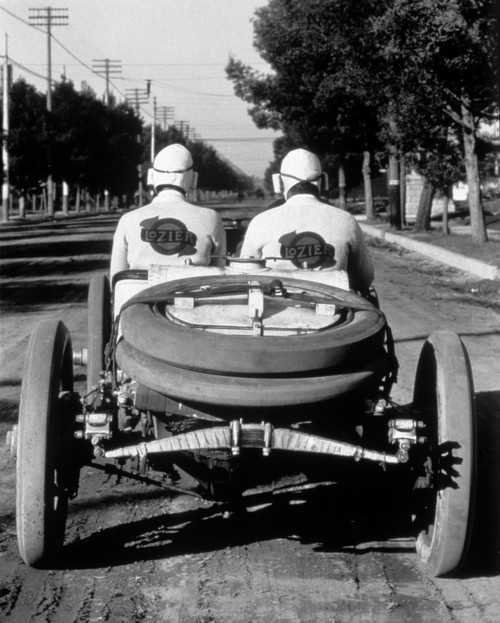 1900s-1910s Rear View Of Two Men Sitting In Antique Lozier Racing Road Rally Car Print By Vintage Collection - Item # PPI177954LARGE