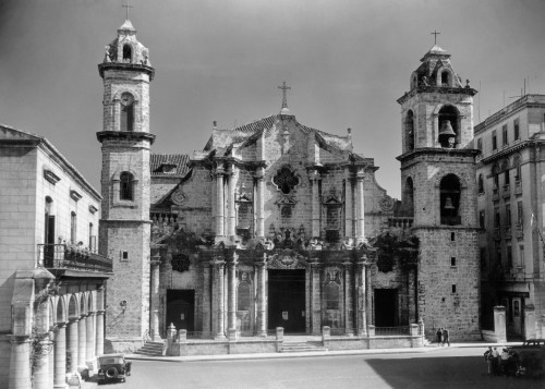 1930s-1940s Columbus Cathedral Built In 1777 Havana Cuba Poster Print By Vintage Collection - Item # VARPPI178748