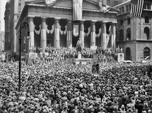 1940s-1942 Wwii War Bond Rally New York Stock Exchange Wall Street Nyc Usa Poster Print By Vintage Collection (24 X 36) - Item # PPI195745LARGE