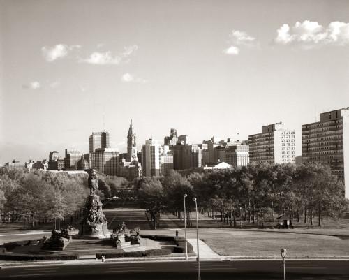1960s Skyline Philadelphia Pennsylvania Usa Poster Print By Vintage Collection (22 X 28) - Item # PPI195546LARGE