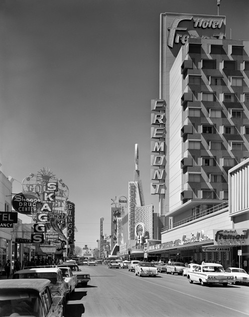 1960s View Down Freemont Street Downtown Las Vegas Nevada Usa Poster Print By Vintage Collection (22 X 28) - Item # PPI178802LARGE