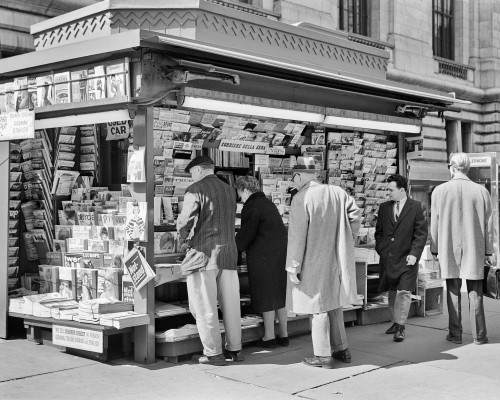 1960s People At Newsstand 42Nd Street New York City Ny Usa Poster Print By Vintage Collection - Item # VARPPI178846